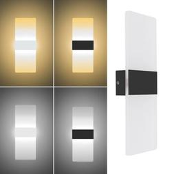 LED Wall Light Up Down Cube Indoor Bedside Outdoor Sconce Li