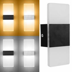 LED Wall Light Up Down Cube Indoor & Outdoor Sconce Lighting