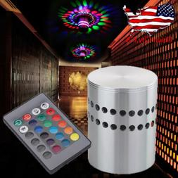 LED Wall Sconce Cylinder Ceiling Light RGB Lamp Spiral Aisle