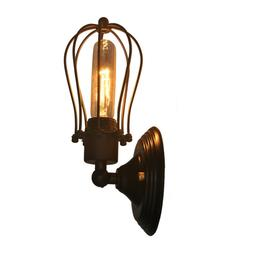 LED Wall Sconce Lighting Metal Industrial Wall Lamp Shade Vi