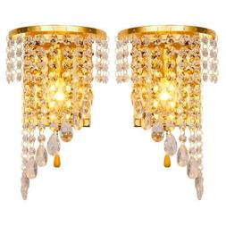 Left Right A Pair Of Light Chrome Silver <font><b>Wall</b></