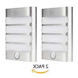 2-Pack Leadleds Luxury Aluminum Stick Anywhere Bright Motion