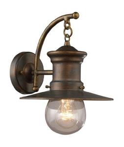 Elk Lighting Maritime Outdoor Wall Lantern in Hazelnut Bronz
