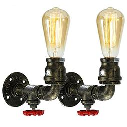 Fuloon Metal Loft Pipe Wall Light Lamp Retro Industrial Cafe