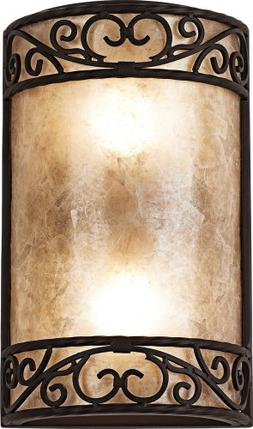 "Natural Mica Collection 12 1/2"" High Wall Sconce Fixture"