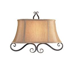 Millennium Burnished Gold Wall Sconce with Gold Silk Shade 2