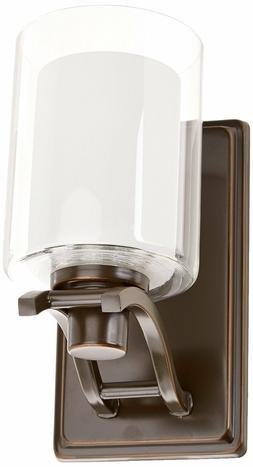 Artcraft Lighting Modern 50-Watt 1 Light  Glass Wall Sconce