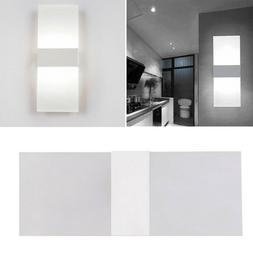 Modern Acrylic LED Wall Sconces Bedside Lamp Fixture Home Be