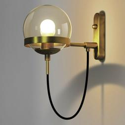 Modern Brass Wall Sconce Wall Lighting Fixture with Clear Gl