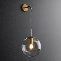 Modern Industrial Wall Sconce Wall Light with Clear Glass Gl