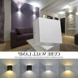 Modern COB 12W LED Cube Wall Light Indoor Outdoor Up/Down La