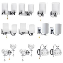Modern Crystal Glass Wall Sconce Light Lighting Fixture Lamp