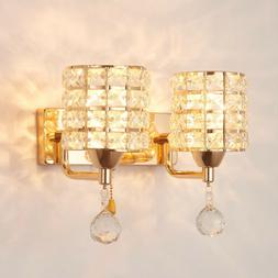 Modern Crystal LED Wall Light Aisle/Bedside Lamp Sconce Ligh