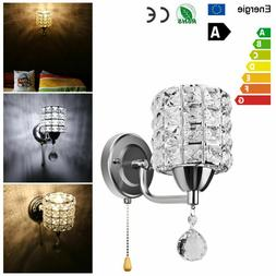 Modern Crystal Wall Light Fixture Lamp Sconce Cylinder Shape