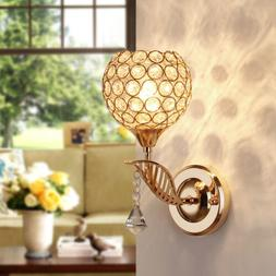 Modern Crystal Wall Mount LED Light Fixture Sconce Lamp Ligh