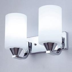 Modern Cylinder Glass Wall Light Sconce Lighting Lamp Fixtur
