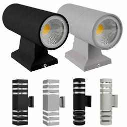 Modern Exterior LED Wall Light Sconce Outdoor Porch Up Down