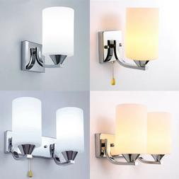 Modern Glass LED Light Wall Sconce Lamp Lighting Fixture Ind
