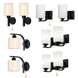 Modern Glass Wall Light Bulb LED Crystal Bedroom Sconce Ligh