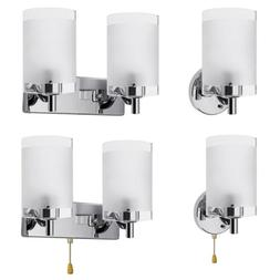 Modern Glass Wall Sconce LED Light Lamp Lighting Fixture Liv