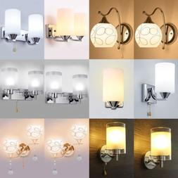 Modern Glass Wall Light Sconce Lighting LED Crystal Lamp Fix
