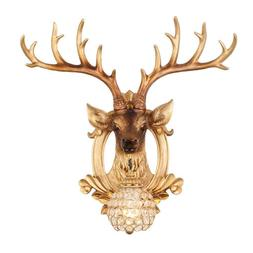 23'' Modern Vintage Resin Deer Dining Room Wall Sconce Cryst