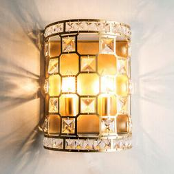 Modern Gold Half Cylinder Indoor Wall Lights Fixture Bedroom