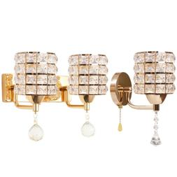 Modern LED Crystal Wall Lamp Sconce Light Bulb Hallway Bedro