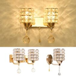 Modern LED Crystal Wall Sconce Lamp Light Fixture Dining Liv
