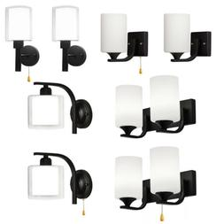 Modern LED Glass Wall Sconce Lamp Bedroom Hallway Wall Light