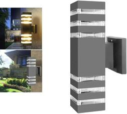 Modern LED Up Down Wall Light Sconce Outdoor Porch Home Dual