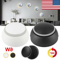 Modern LED Wall Lamps 360° Rotation  Round Aisle Sconce Lig