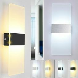 Modern LED Wall Light 3/6/12W Up Down Indoor Outdoor Sconce