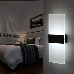 Modern LED Wall Light Cube Sconce Lighting Lamp Fixture Moun