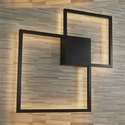 Modern LED Wall Light Fixture Indoor Square Shape Wall Sconc