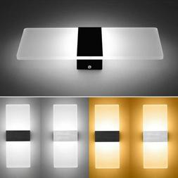 LED Modern Wall Light Up Down Cube Indoor Outdoor Sconce Lig
