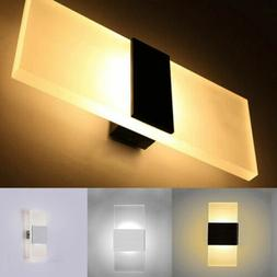 Modern LED Wall Light Up Down Cube Outdoor Indoor Sconce Lig