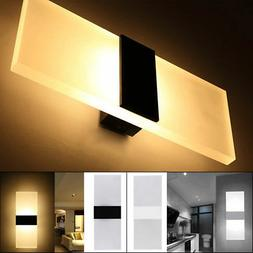 Modern LED Wall Light Up Down Cube Sconce Lighting Lamp Fixt
