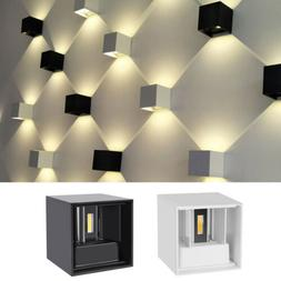 Modern LED Wall Light Up Down Cube Sconce Lighting Lamp IP65