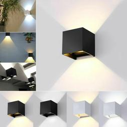 Modern LED Wall Light Up Down Cube 12W COB Indoor Outdoor Sc