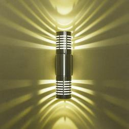 Modern LED Wall Light Up Down Two Head Sconce Lighting Hall