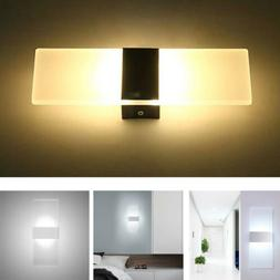 Modern LED Wall Lighting Up Down Cube Indoor Outdoor Bedroom