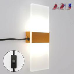 Modern LED Wall Light Wall Sconce Plug in Cord with on/Off S