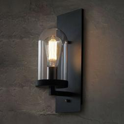 Modern Loft Wall Light Sconce Fixture with Clear Glass Shade