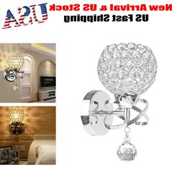 Modern Luxury Crystal Wall Light Chrome Finish Wall Sconce L