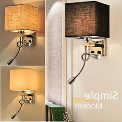 Modern Metal LED Night Light Bedroom Bedside Living Room Wal