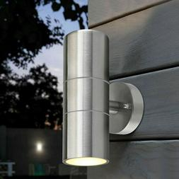 Modern Outdoor Wall Light Fixtures Up Down LED Stainless Ste