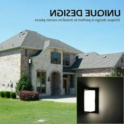Modern Outdoor Wall Sconce Square LED Exterior Light Corner
