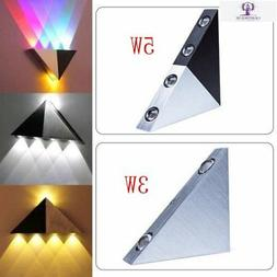 Modern Triangle 3W LED Wall Sconce Spot Light Fixture Indoor
