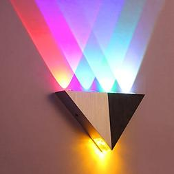 Modern Triangle 5W LED Wall Sconce Light Fixture Indoor Hall